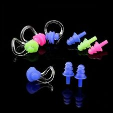 Hotsale Swimming Waterproof Set Nose Clip Earplugs Silicone Soft Swim Ear Plug