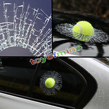 2016 Creative 3D Tennis Ball Hit Window Car Sticker Windshield Decal Decorations