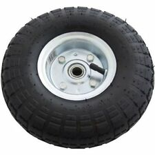 "10"" REPLACEMENT TYRES PNEUMATIC TROLLEY WHEEL BARROW CART TRUCK SACK TYRE BLACK"