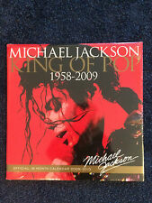 MICHAEL JACKSON 2009-2010 CALENDAR KING OF POP 1958-2009