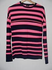 Jil Sander S/S13 Block Stripped pattern Jumper - Size 46 - Navy and Pink