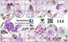#144 Slider design for nail art (decal stickers for gel polish, acrylic)