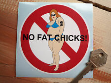 NO FAT CHICKS Hot Rod & Custom Car bad taste(?) sticker