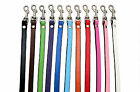Real SOFT LEATHER DOG LEADS Handmade red black pink green blue brown aqua orange