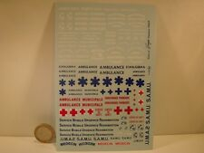 DECALS 1/43 POMPIERS / SAMU / AMBULANCE / CROIX ROUGE - VIRAGES T144