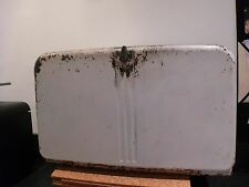 "Vintage Lincoln ""Beauty Box"" Bread Box w/ Cutting Board & Rack White"