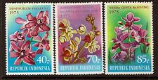 INDONESIA 1975 FLOWERS ORCHIDS SC # 944-946 MNH
