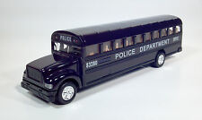 "1/32 COUNTY POLICE DEPT. BUS Black Blue Over 8"" Long New DIORAMAS Railroad Bulk"