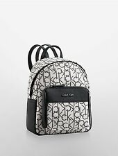 NWT Calvin Klein Hailey City Backpack Lurex light putty