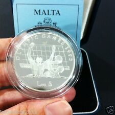 1996 Malta Olympic Games Silver Proof Coin Box And Certificate #0575