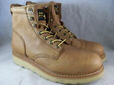 "New Men'S Golden Retriever 6"" Steel Toe Boots (06559) Brown Wedge 11 Ee $134"