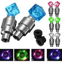 2 X Neon Bike Cycling Bicycle Wheel Accessories Valve Light Night Warning Lamp