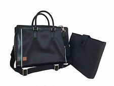 Leather Trim Laptop Bag Cosmo Compu-Briefcase Notebook Computer Expandable