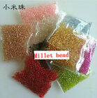 wholesale silver lined glass SEED BEADS jewelry making multi COLOUR 1000-10000