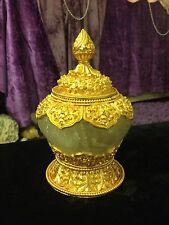 Antique/Vintage Carved Crystal Tibetan Buddhist Ceremonial Kapala or Skullcap!