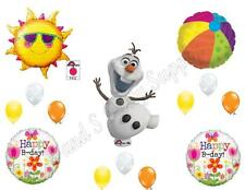 OLAF IN SUMMER FROZEN Happy Birthday Balloons Decoration Supplies Party Snow