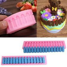 NEW DIY 3D Fence Silicone Fondant Cake Decoration Mold  Baking Mould Tools bb