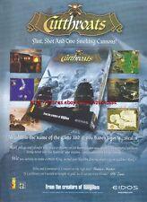 """Cutthroats """"Eidos"""" 1999 Magazine Advert #4502"""