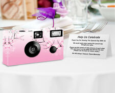 Cherry Blossoms PERSONALIZED Disposable Camera-8 Single Use wedding cameras