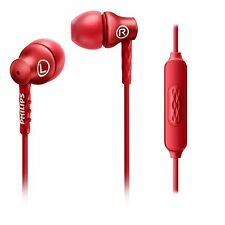 Philips SHE8105RD In ear headphones with mic 8.6mm drivers SHE8105 Red