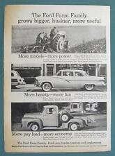 Orig 1955 Ford & Farm Ad featuring FORD & FARM 860 Tractor, Fairlane & Pickup