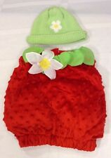 Strawberry Baby/ Toddler Halloween Costume with hat 6-12 months