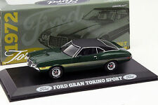 1972 FORD GRAN TORINO SPORT Green w/ Yellow Stripes - 1/43 - GREENLIGHT