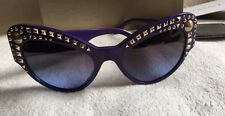 Versace PURPLE Cat Eye studded Sunglasses 4269 A new