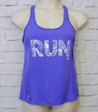 NEW Womens OLD NAVY Purple White Racerback Go Dry Active Athletic Tank Top SZ M