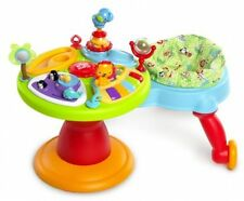 Bright Starts 3-in-1 colorful Around We Go Activity Center Plastic Made Green