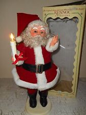 RENNOC Little People Animated Motionette Christmas Santa With Candle