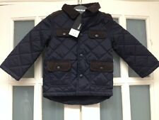 BNWT GEORGE BOYS PADDED NAVY/BROWN CORD JACKET AGE 1-1.5 Yrs