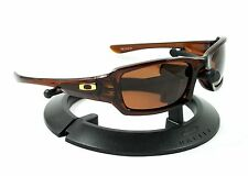 OAKLEY FIVES SQUARED ROOTBEER BROWN FRAME & REVANT BRONZE POLARIZED CUSTOM LENS