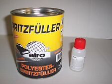 Polyester Spray Filler White   1 litre including hardener   1.5 kilo  2K putty