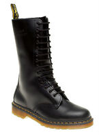 MENS DM DOCS DR MARTENS 1914 LEATHER 14 EYE BLACK SMOOTH CASUAL BOOTS UK 6-12