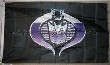 CobraCon G.I. Joe Cobra Decepticons 3'x5' Flag Banner Transformers USA Shipper