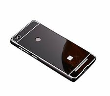 Honey Money REDMI 3S PRIME  LUXURY Metal Bumper Acrylic Mirror Back CASE-BLACK
