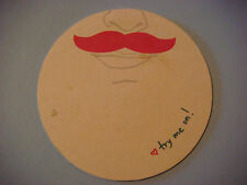 Beer Bar Coaster ~*~ LYFT Ride Program with Pink - Mustached Cars ~ $20 Discount