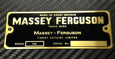 Massey Ferguson Tractor Commission Plate Black & Gold Decal