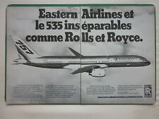 4/83 PUB ROLLS-ROYCE RB211-535 ENGINES BOEING 757 EASTERN AIRLINES FRENCH AD