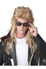 80's Rock Mullet Heavy Metal Adult Costume Wig - Blonde