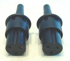 2 x BULGIN 3 - PIN  MINI MAINS CONNECTORS  QUAD 33 / 303 / FM3 Hi-Fi Vintage