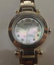 925 STERLING SILVER ECCLISSI 2 BEZEL WHITE FACE TRITIUM MARKERS CZ WATCH 7 IN ~