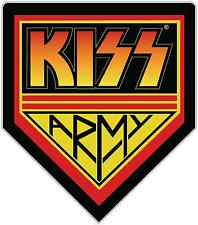 "Kiss Band Army Rock Music Car Bumper Window Sticker Decal 4""X5"""