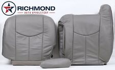 2003-2006 GMC Yukon XL 1500 2500 -Driver Side Complete Leather Seat Covers Gray