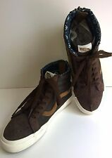 VANS Leather Nubuck SK8-Hi Zip CA Brown Skateboard Shoes Sz 7.5