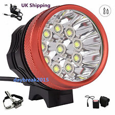 UK Ship 3Models 20000Lm 10x Cree XML T6 LED Bicycle Bike Cycling Head Light Lamp