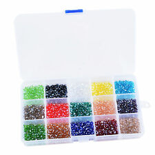 LS Box 1500pcs 3x5mm Teardrop Crystal Glass Beads Jewelry Making Findings Spacer