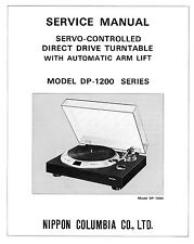 DENON DP-1200 SERIES TURNTABLE SERVICE MANUAL 20 Pages