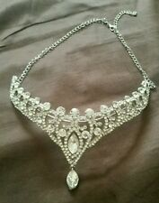 Silver Diamond Crown Headpiece Weddings/ Eid Hijab Arab Princess